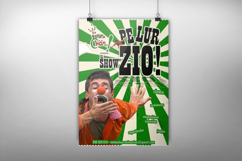 Diseño de cartel promocional para un espectáculo infantil