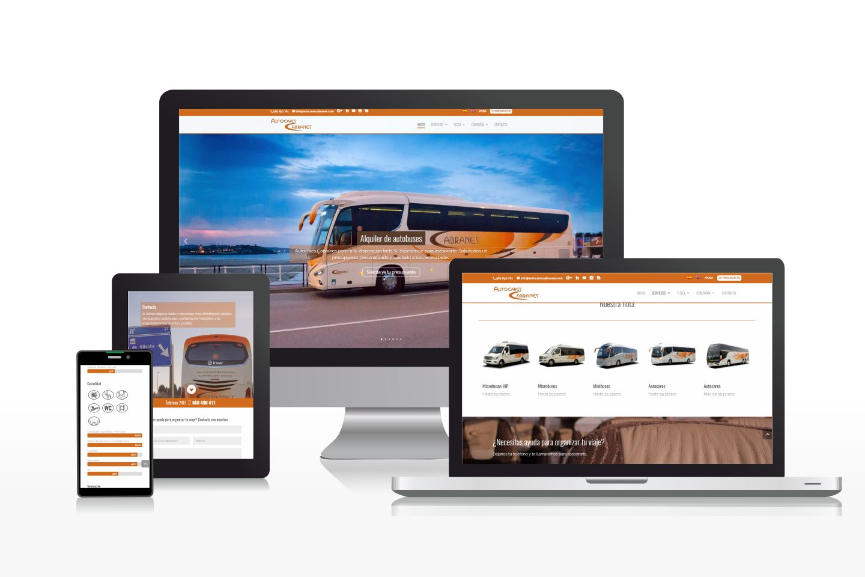 Diseño de página web multilingüe para empresa de autocares
