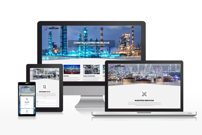 Diseño de página web para empresa de construcciones metálicas